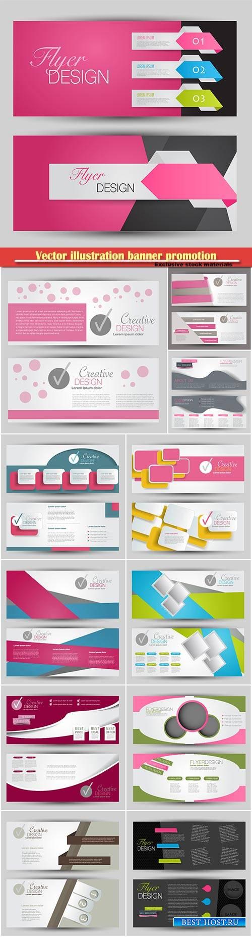 Vector illustration banner promotion design background