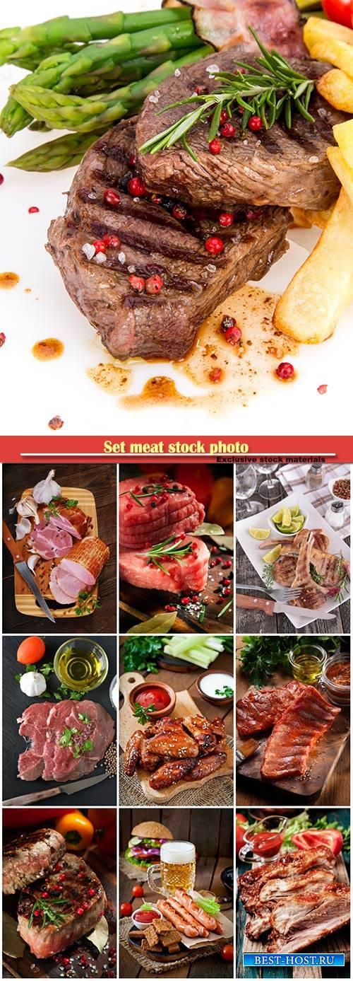 Set meat stock photo