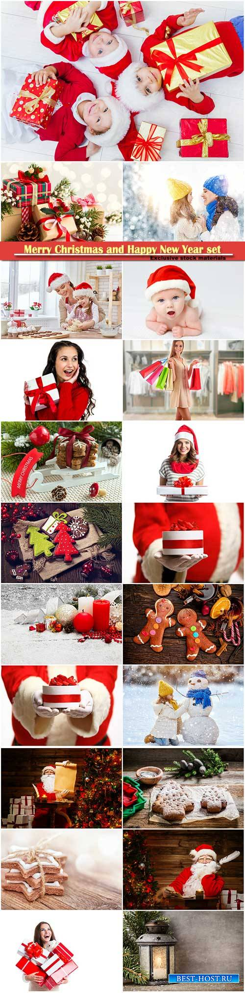 Merry Christmas and Happy New Year stock set # 10