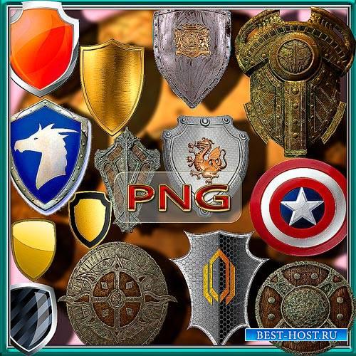 Клипарты для фотошопа на прозрачном фоне - Старинные щиты