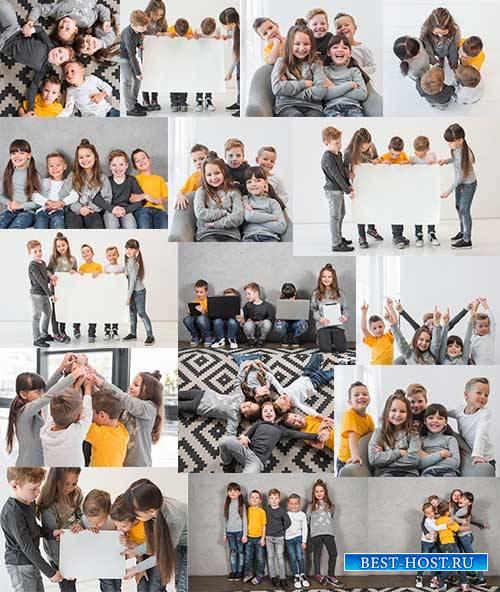 Счастливые дети - Растровый клипарт / Happy Kids - Raster clipart