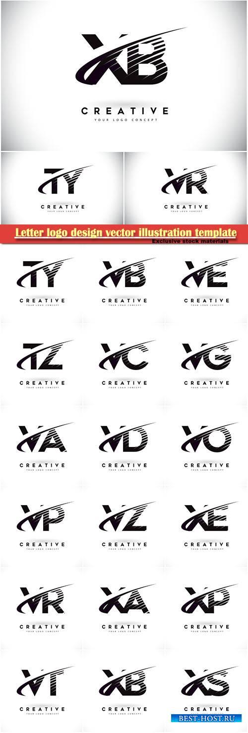 Letter logo design vector illustration template # 9