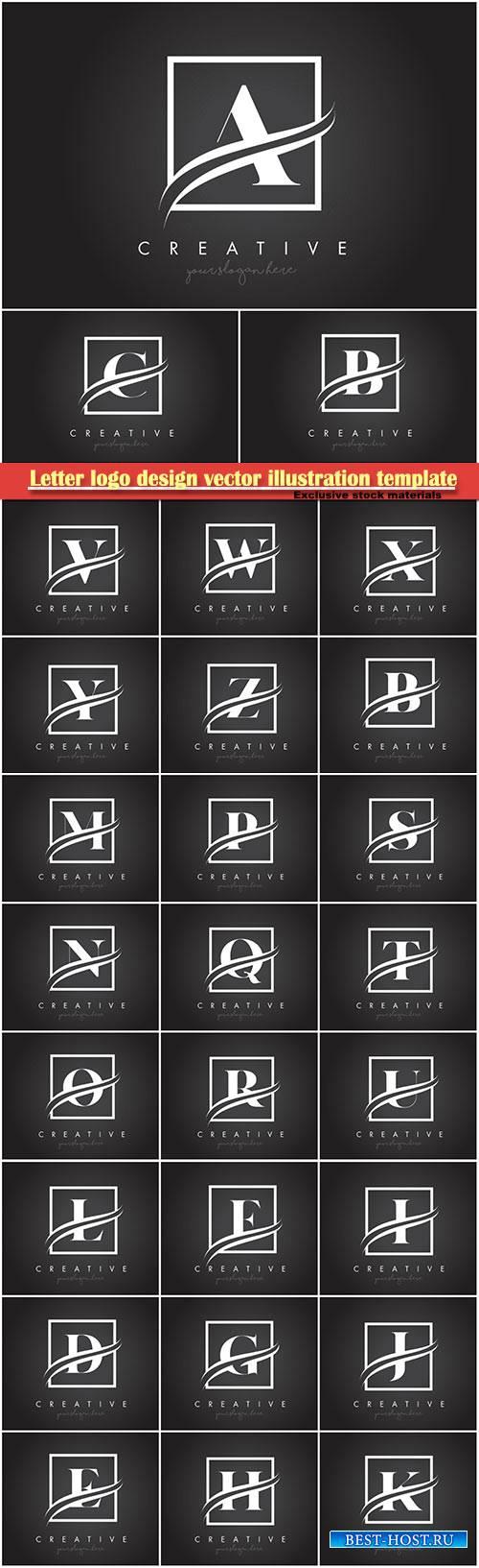 Letter logo design vector illustration template # 6