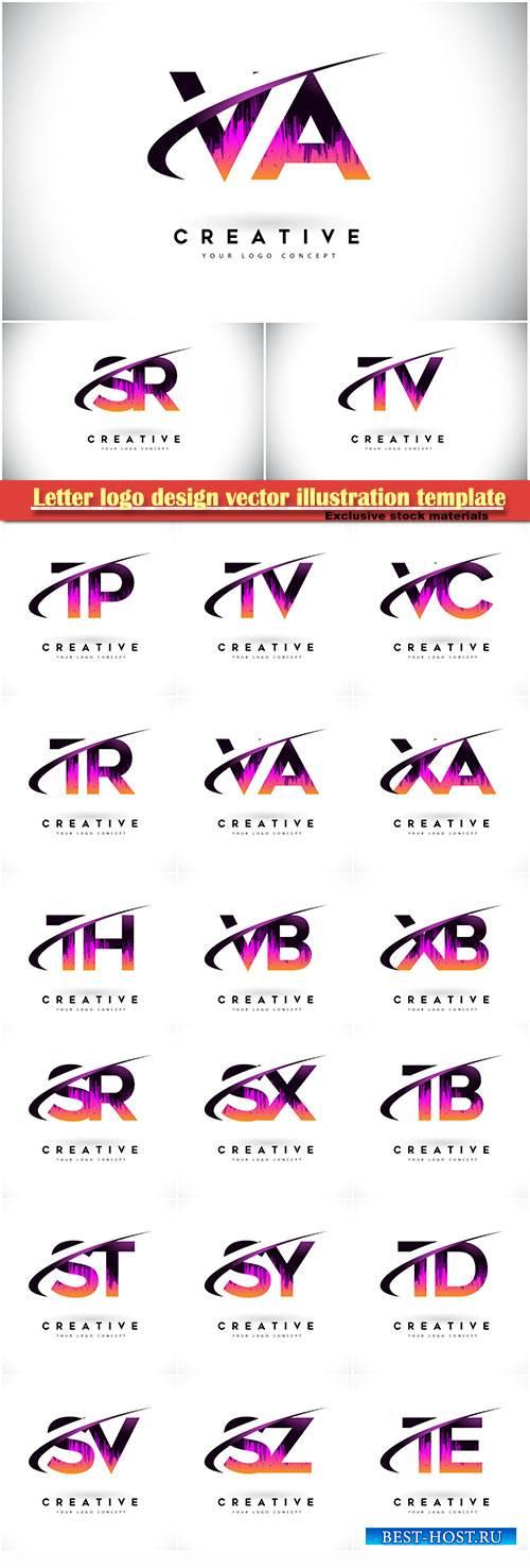 Letter logo design vector illustration template # 7