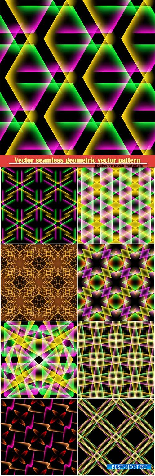 Vector seamless geometric vector pattern