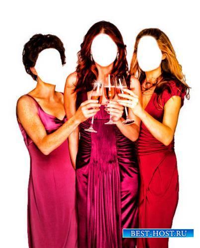 Клипарты для фотошопа - Три подруги