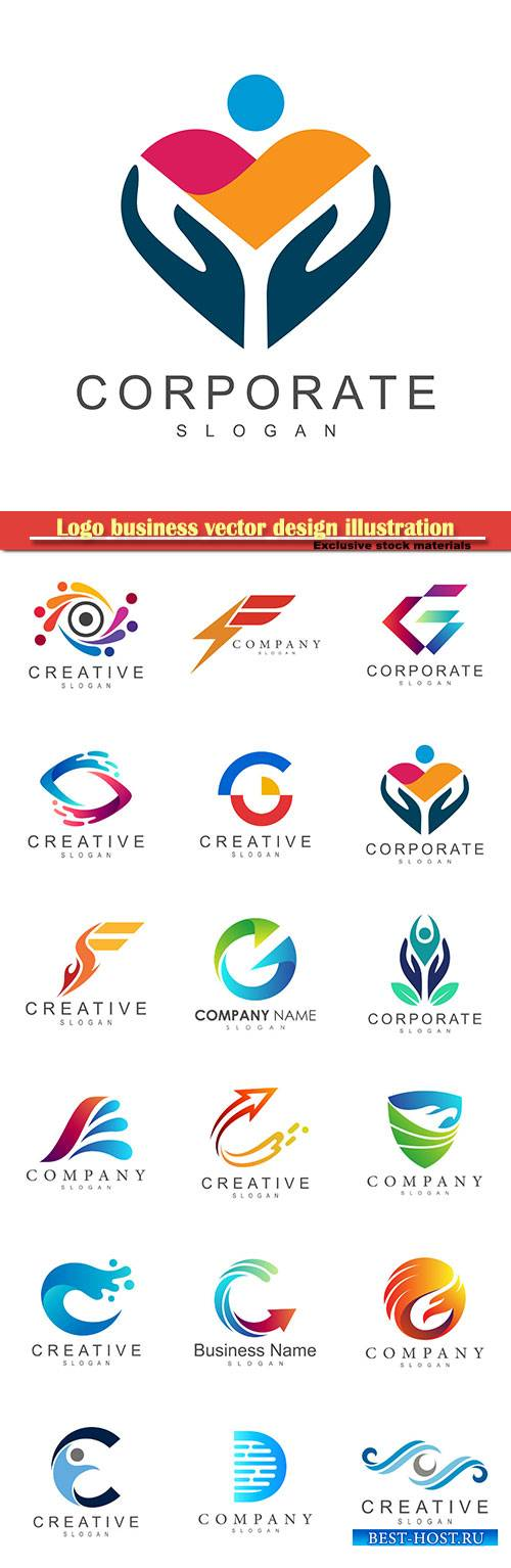 Logo business vector design illustration # 30