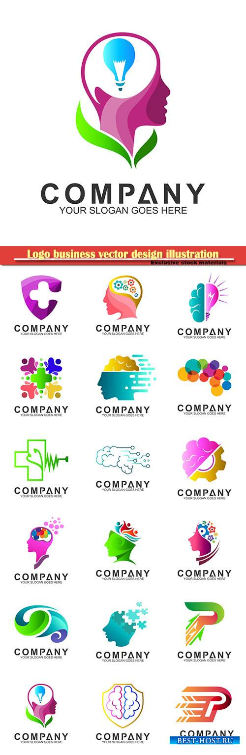 Logo business vector design illustration # 32
