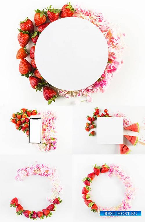 Цветочные рамки - 2 - Растровый клипарт / Floral - 2 - Raster clipart