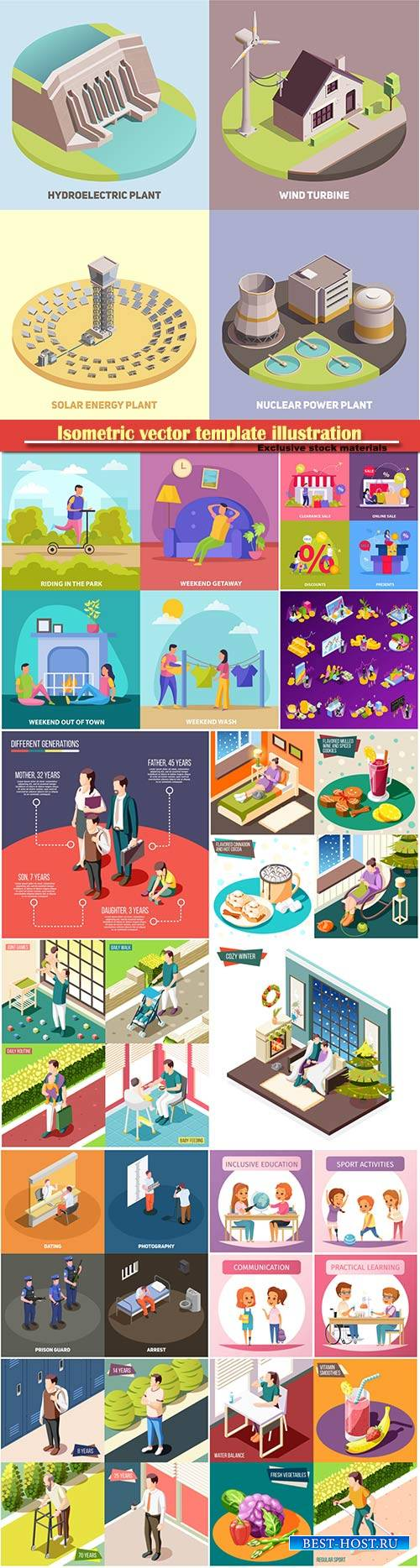Isometric vector template illustration # 19