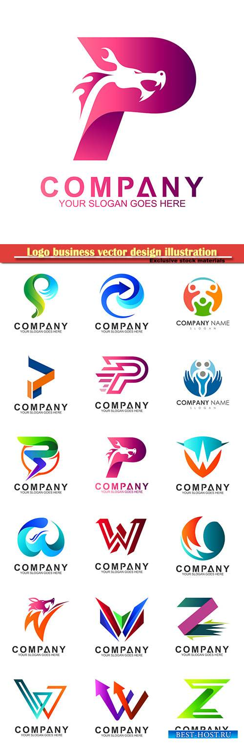 Logo business vector design illustration # 35