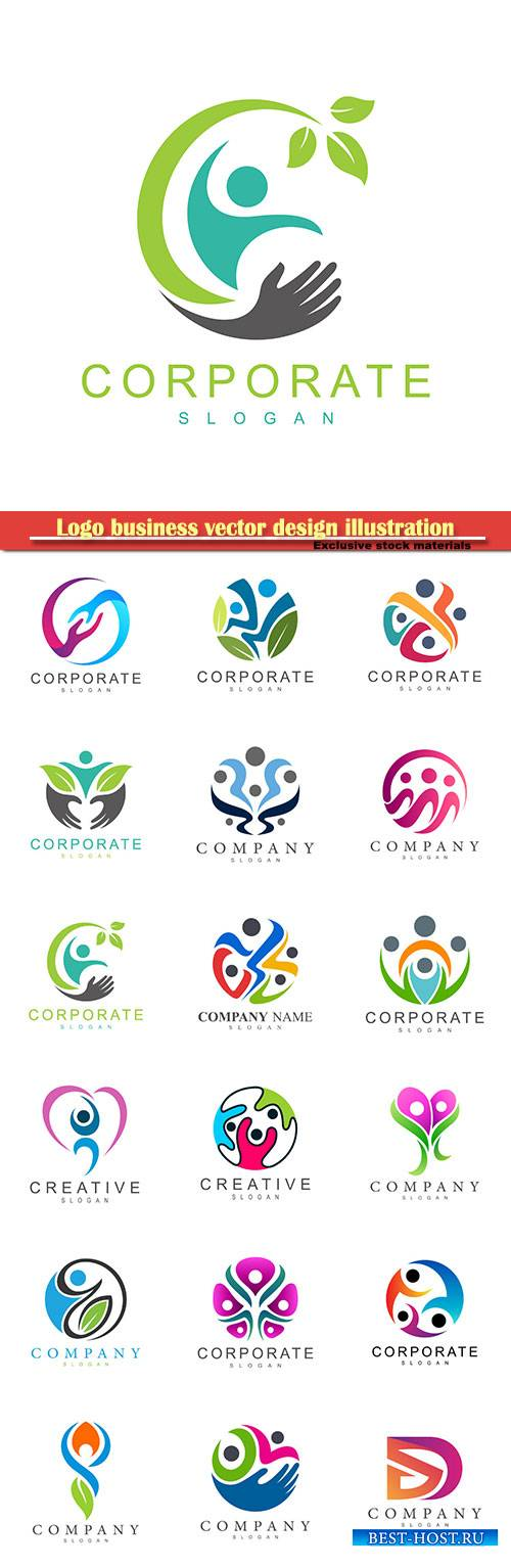 Logo business vector design illustration # 37