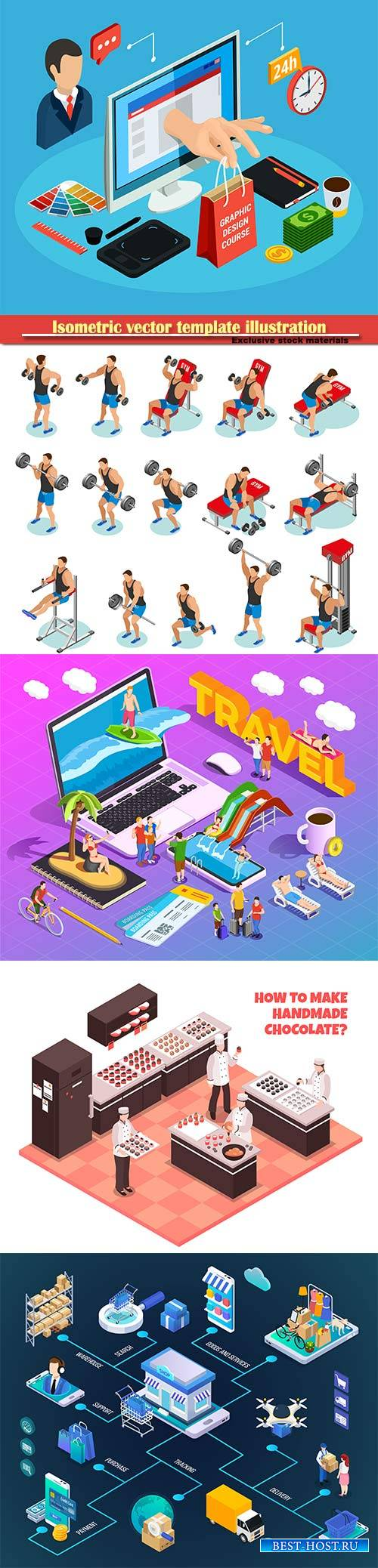 Isometric vector template illustration # 30