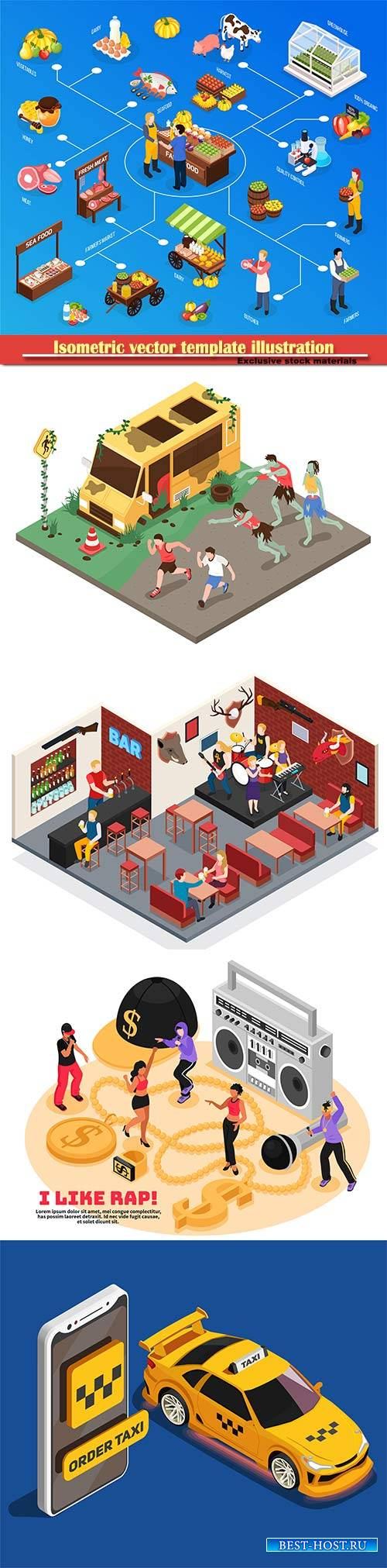 Isometric vector template illustration # 31