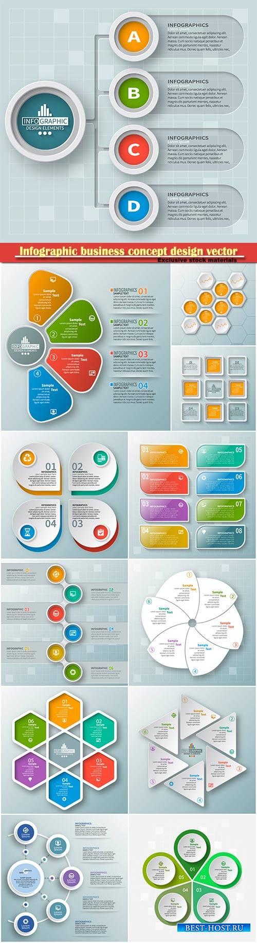 Infographic business concept design vector illustration # 6
