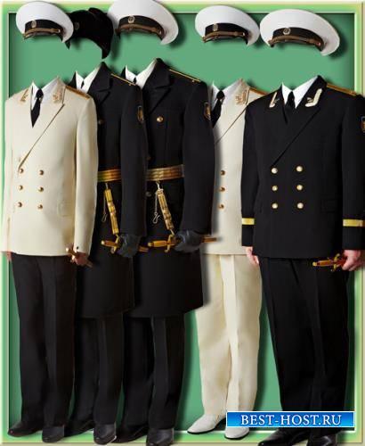 Фотошаблон для фотошопа - Девушки военные