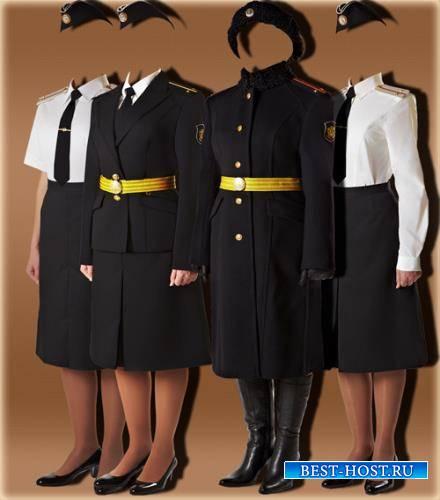 Шаблон для девушки - Девушки военные
