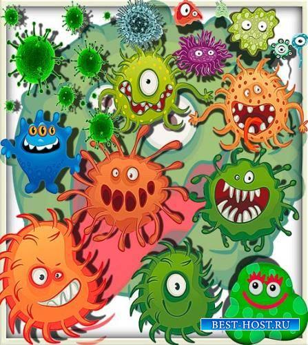 Качественные клипарты - Злые вирусы