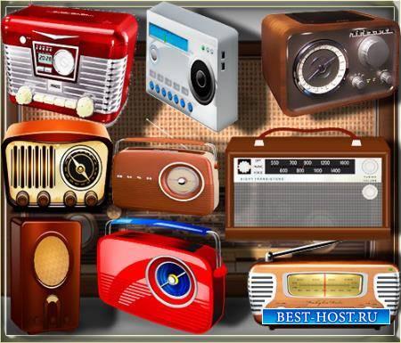 Клипарты для фотошопа - Радио магнитолы