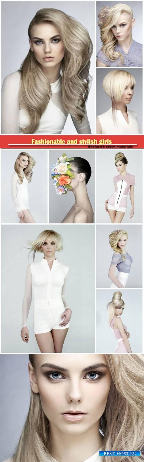 Fashionable and stylish girls