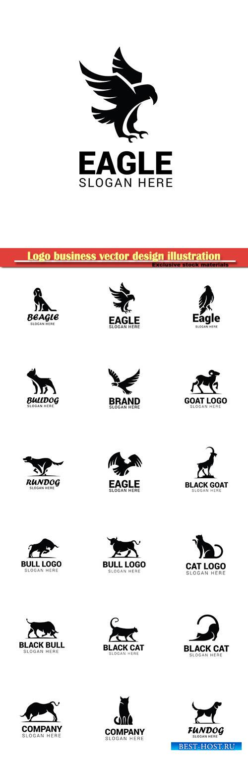 Logo animal vector design illustration # 43