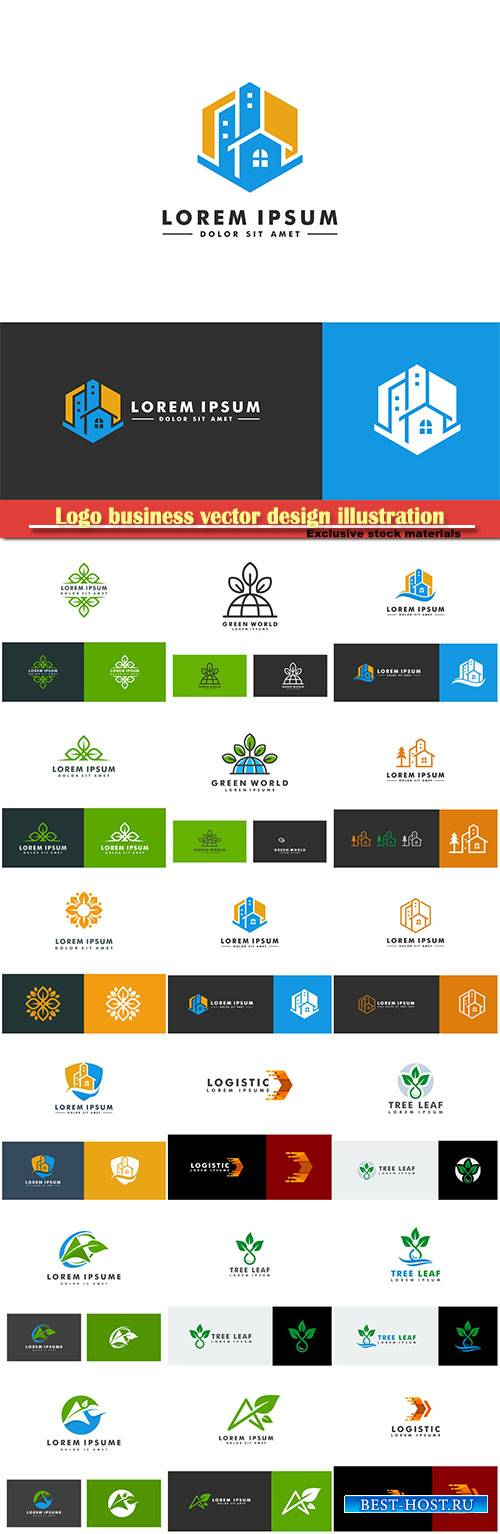 Logo business vector design illustration # 42