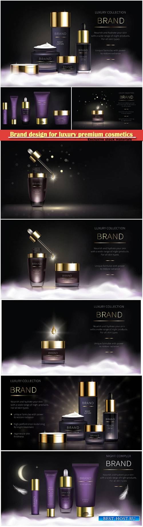 Brand design for luxury premium cosmetics, series for face skin care, reali ...