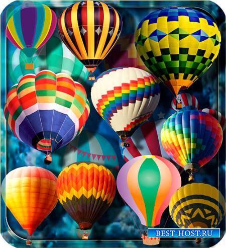Прозрачные клипарты для фотошопа - Воздушные шары