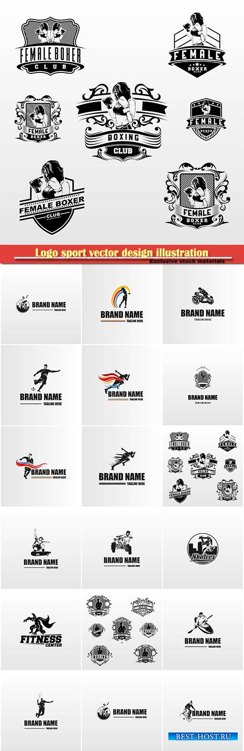 Logo sport vector design illustration # 51