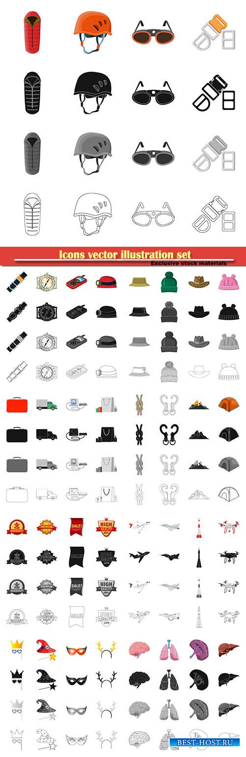 Icons vector illustration set # 14