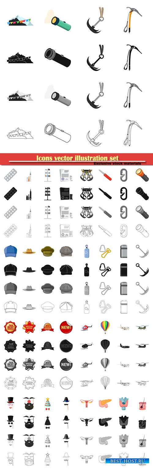 Icons vector illustration set # 15