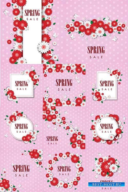 Здравствуй, весна - Векторный клипарт / Hello Spring - Vector Graphics