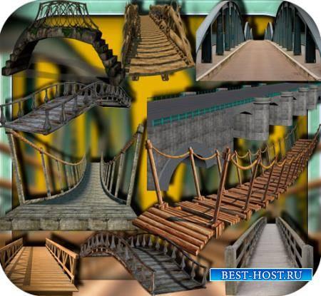 Растровые клипарты - Мосты разных видов