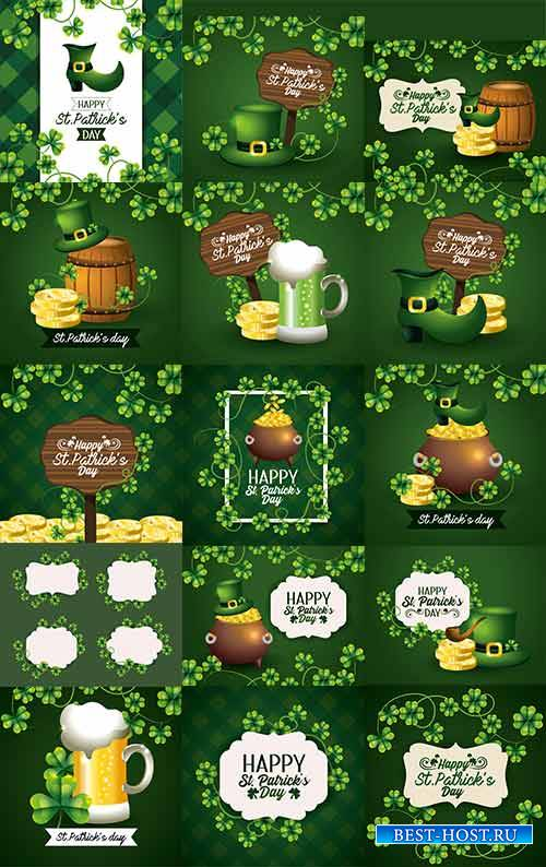 Happy Saint Patricks day - 2 - Vector Graphics