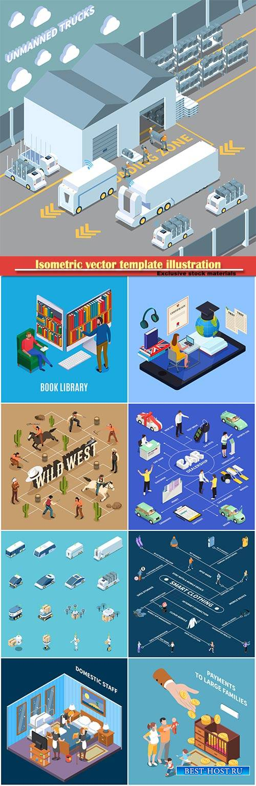 Isometric vector template illustration # 47