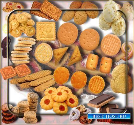 Клипарты без фона - Сахарное печенье