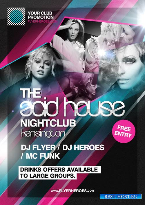 Acid House flyer template