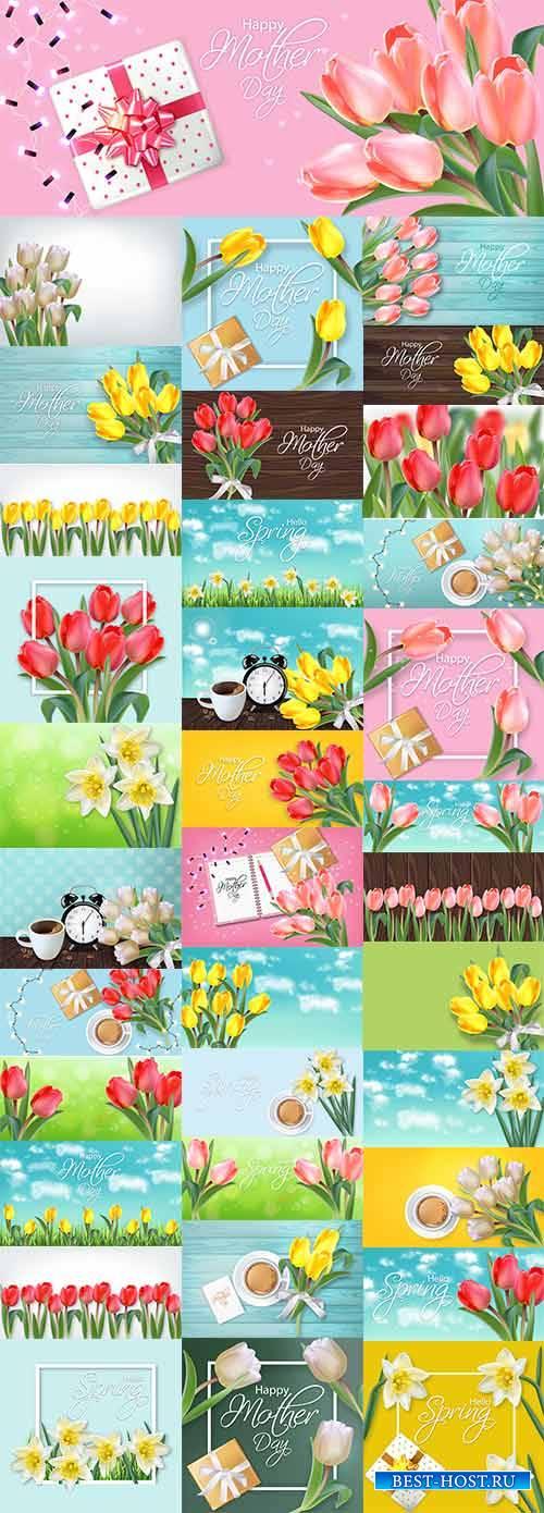 Здравствуй, весна - 12 - Векторный клипарт / Hello Spring - 12 - Vector Gra ...