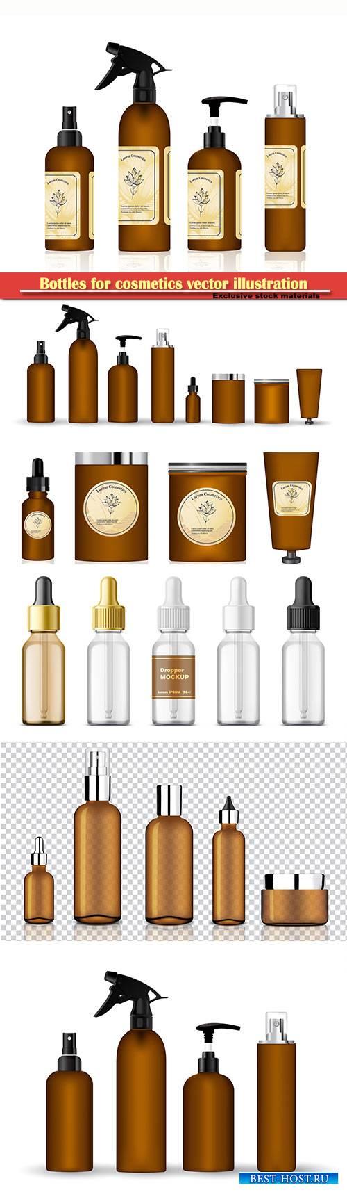 Bottles for cosmetics vector illustration