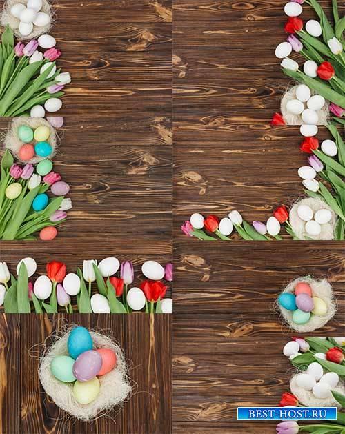 Фоны к Пасхе - Растровый клипарт/ Easter Backgrounds - Raster clipart