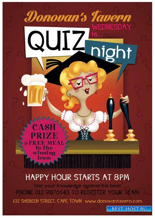 Quiz Night psd flyer template
