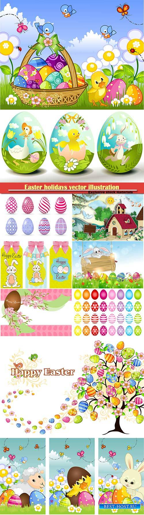 Easter holidays vector illustration # 10