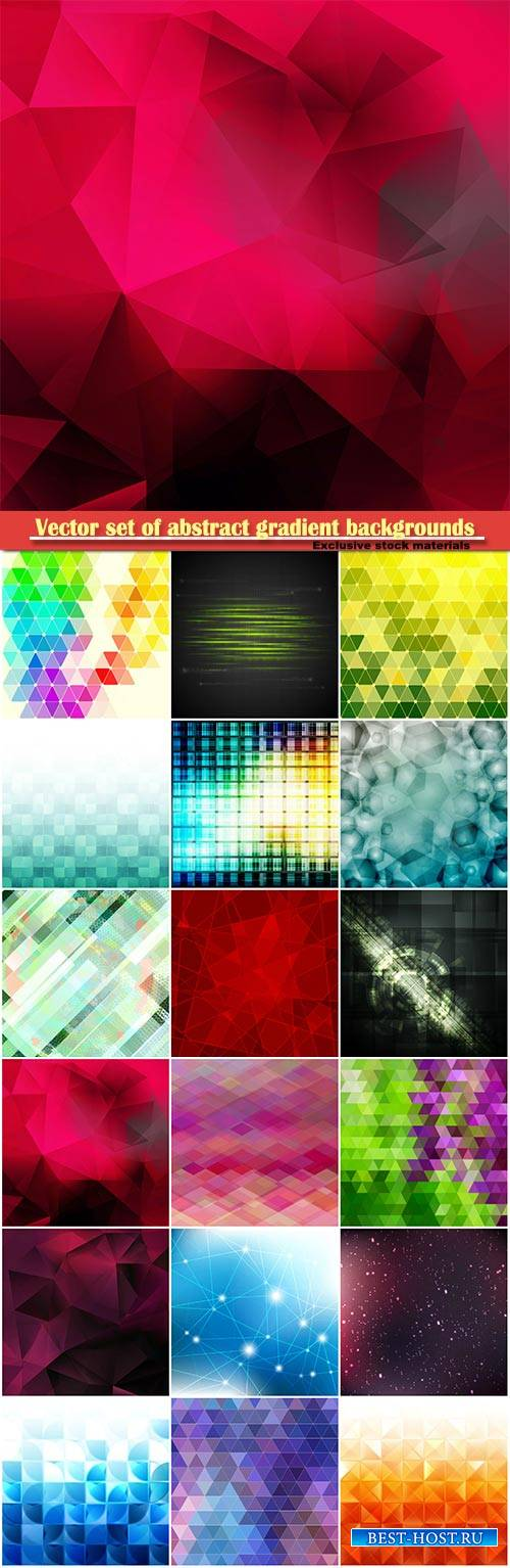 Vector set of abstract gradient backgrounds # 5