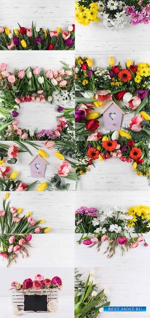 Красивые цветы - Растровый клипарт / Beautiful Flowers - Raster clipart