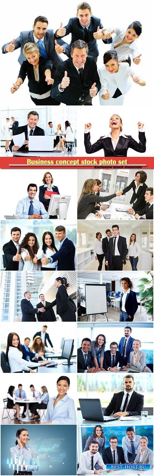 Business concept stock photo set