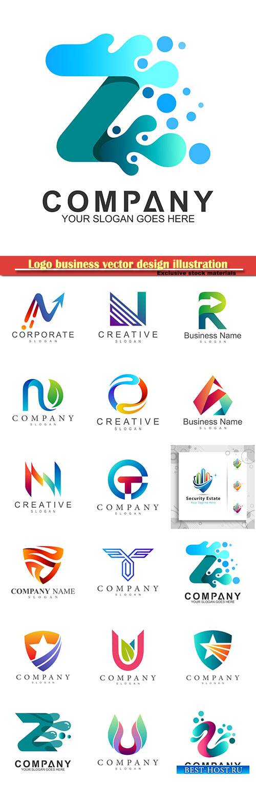 Logo business vector design illustration # 80
