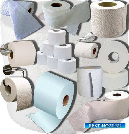 Прозрачные клипарты для фотошопа - Туалетная бумага
