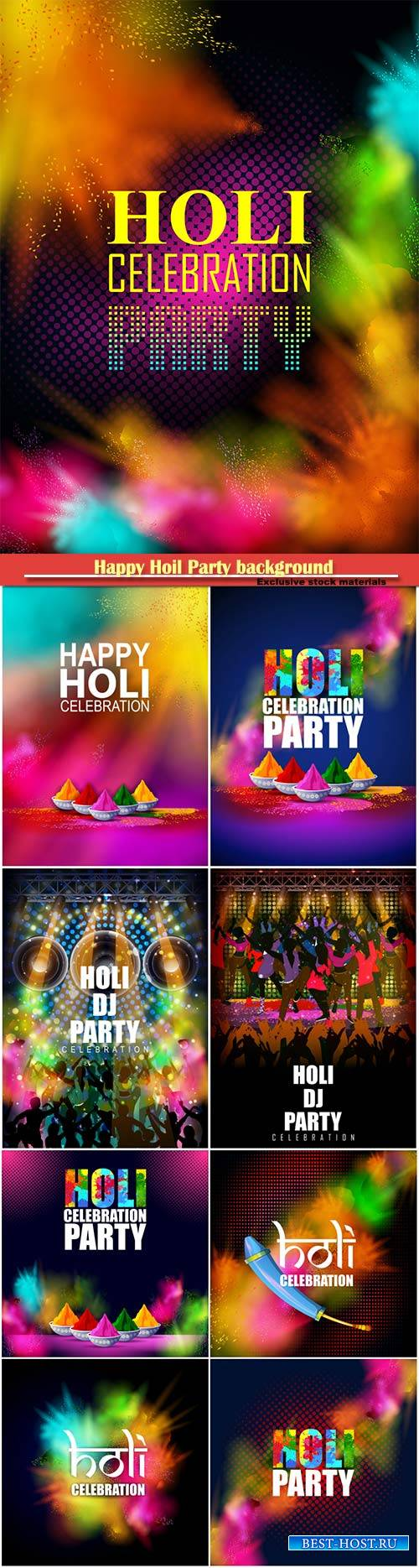 Happy Hoil Party background for festival of colors in India