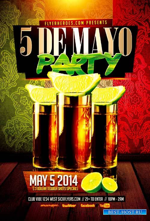 Cinco De Mayo 2 psd flyer template