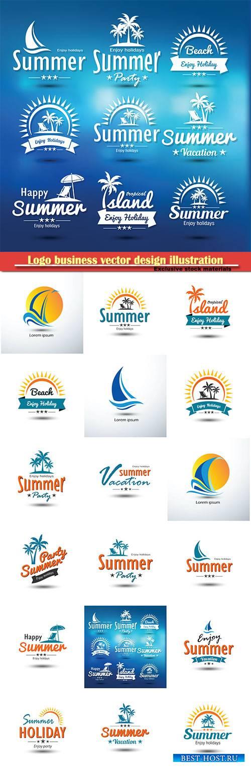 Summer logo vector design illustration # 83